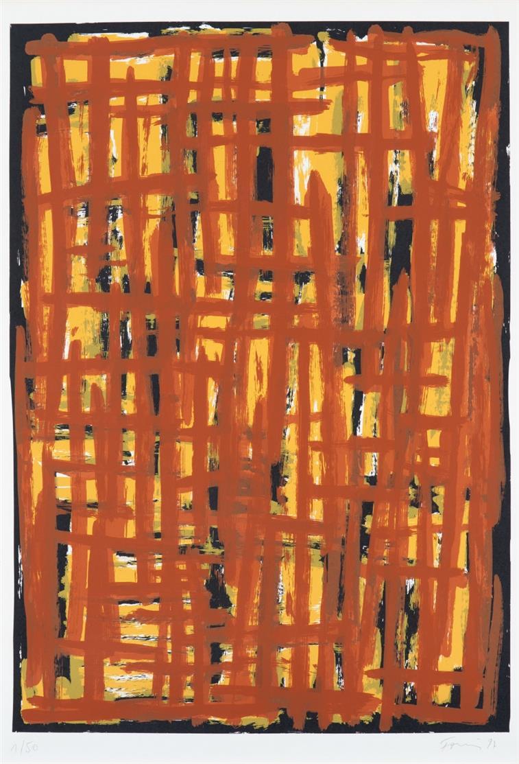 Günther Förg. Ohne Titel. 1997. 2 Blatt Farbserigraphien. Je signiert. Je Ex. 1/50.