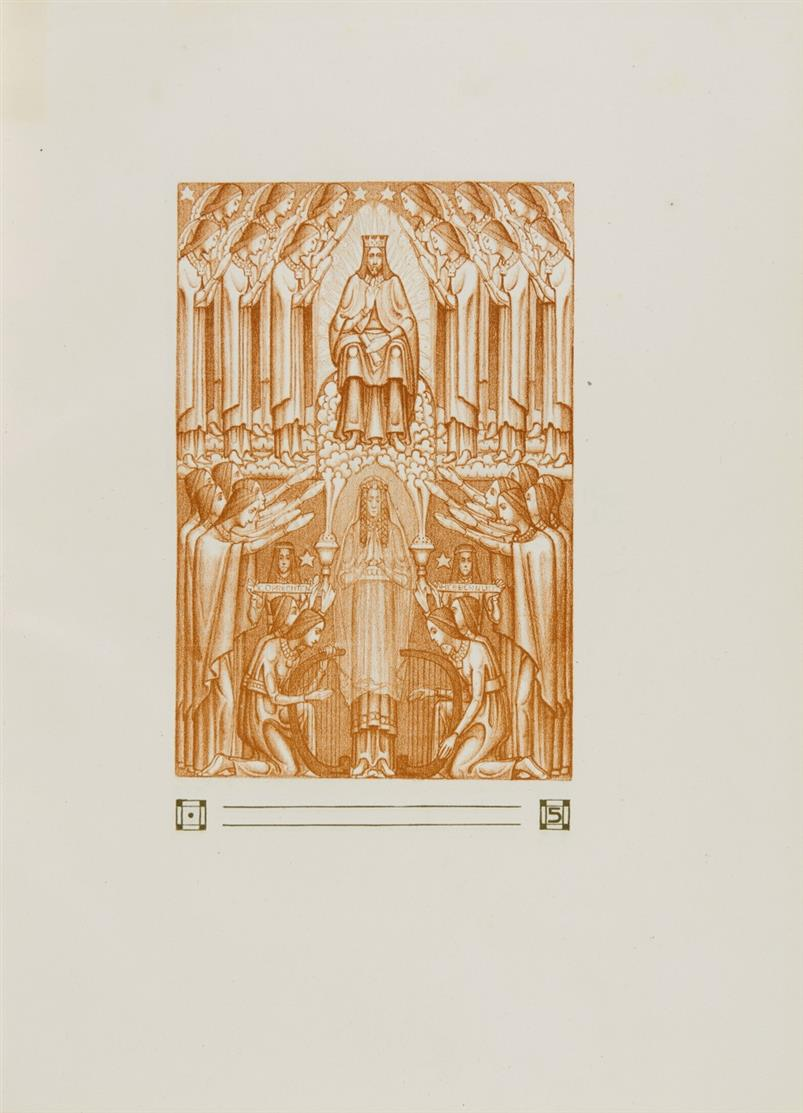 Het Hooglied van Salomo. Illustr. v. van der Leck u. Klaarhamer. Amsterdam 1905. - Ex. 166/250.