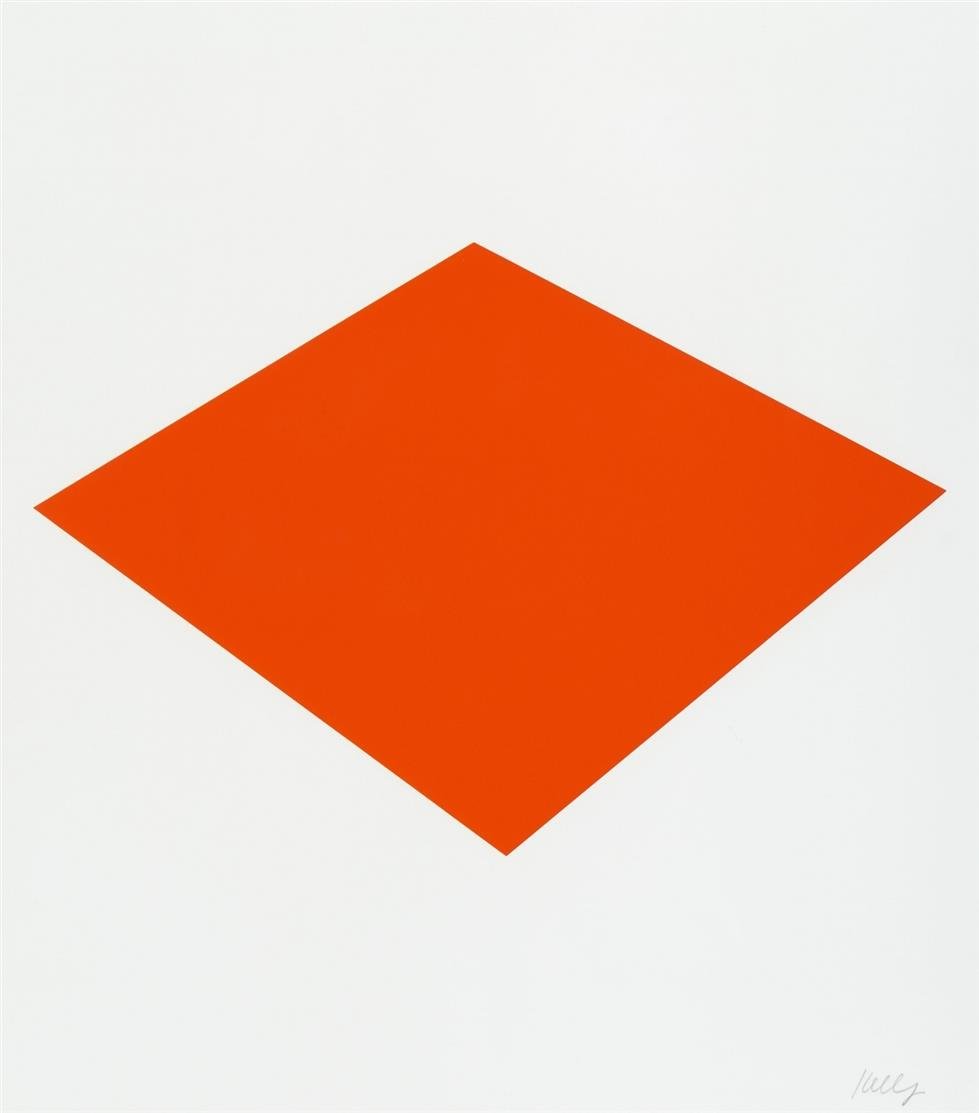 Ellsworth Kelly. Red floor panel Münster. 1992. Serigraphie. Plakat. Signiert.