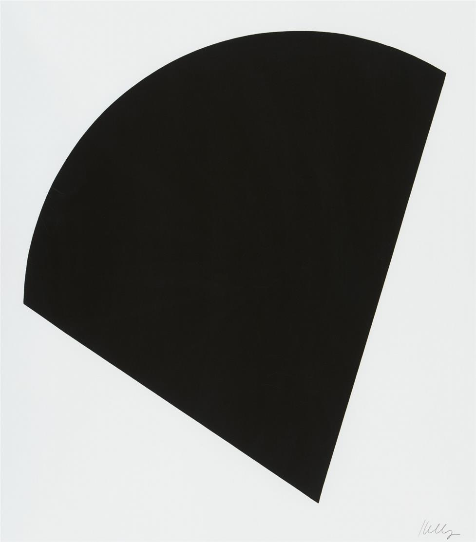 Ellsworth Kelly. Black curve. Serigraphie. Signiert. Plakat.