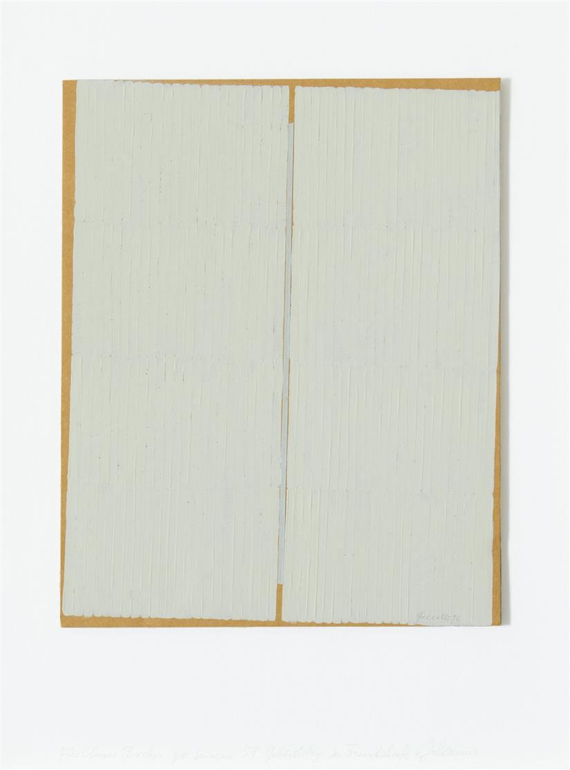 Johannes Geccelli. Ohne Titel. 1996. Öl auf Pappe. Signiert.