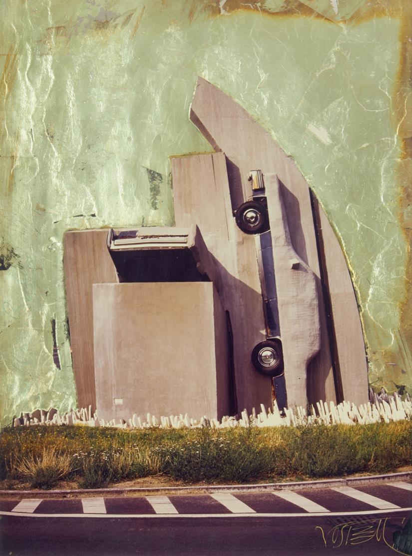 Wolf Vostell. Ohne Titel. 1993. Fotocollage. Signiert.