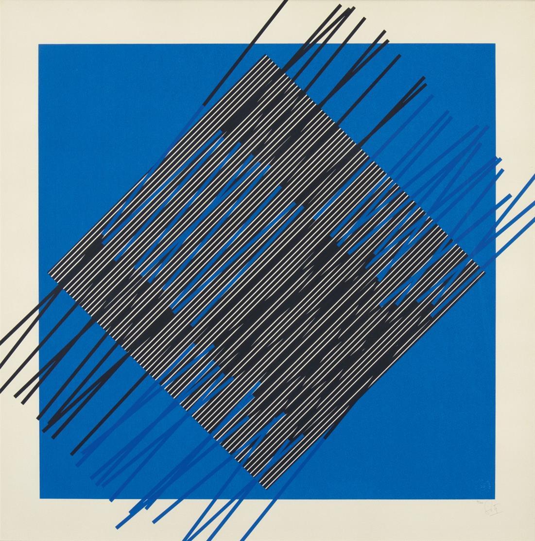 Jesus Raphael Soto. Ohne Titel. Farbserigraphie. Signiert. Ex. 82/200.