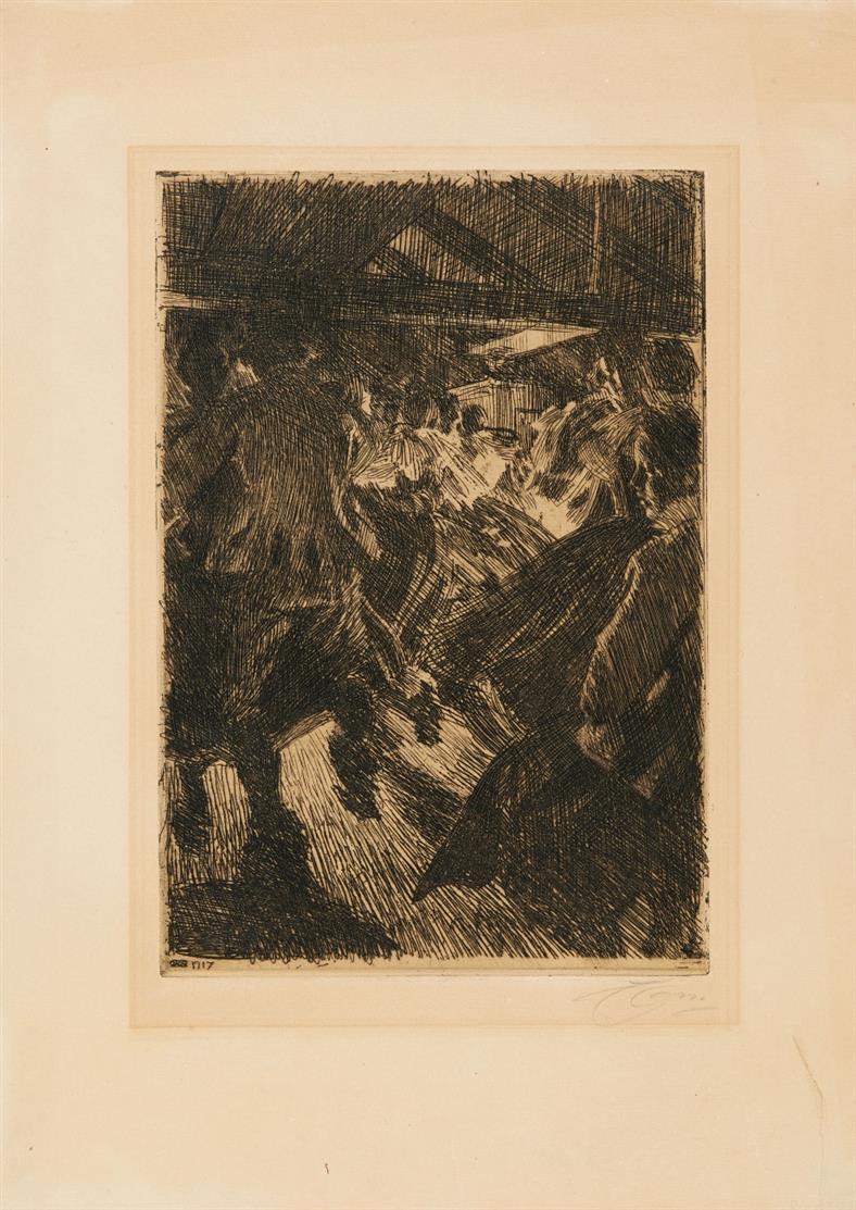 Anders Zorn. Gopsmor Cottage. 1917. Radierung. Signiert.