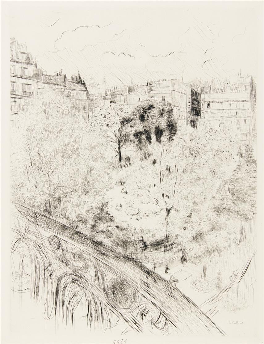 Edouard Vuillard. Stadtansicht. Radierung.