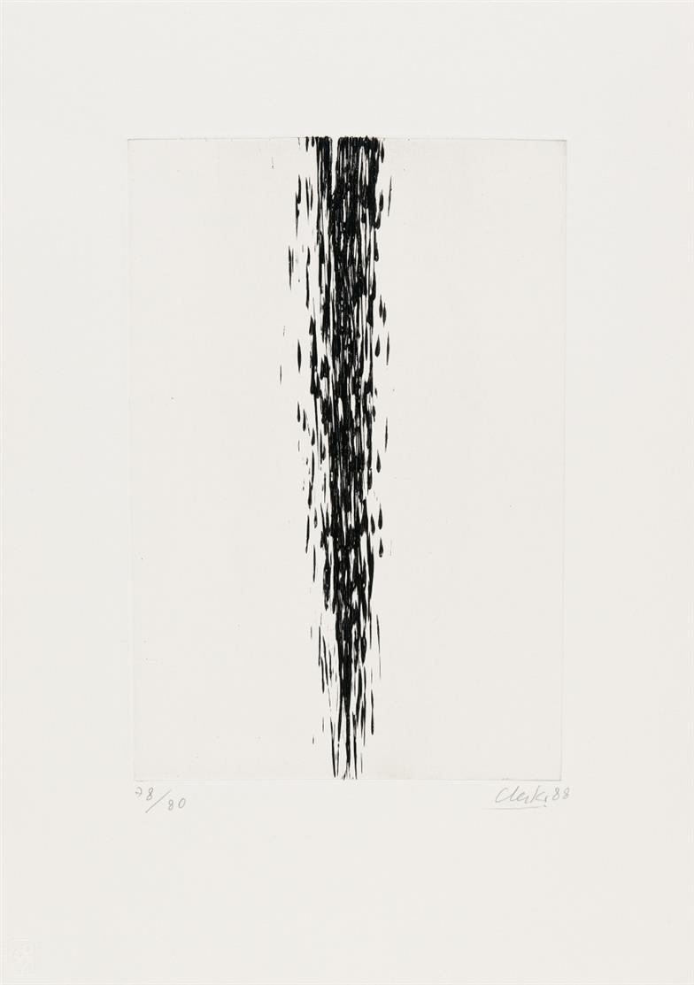 Günther Uecker. Ohne Titel. 1988. Radierung. Signiert. Ex. 78/80.