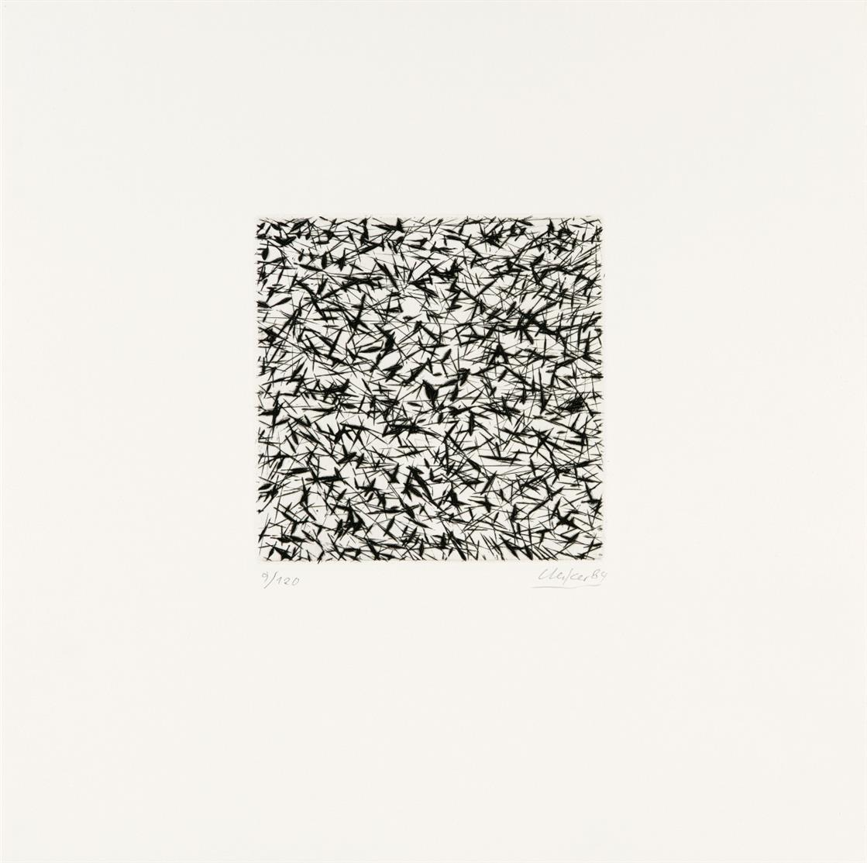 Günther Uecker. Ohne Titel. 1984. Radierung. Signiert. Ex. 9/120.