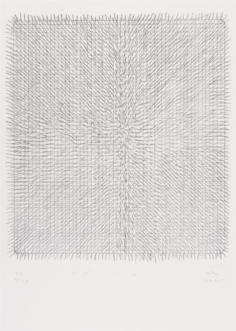 Günther Uecker. Ohne Titel. Offsetdruck. Signiert. Ex. 50/70.