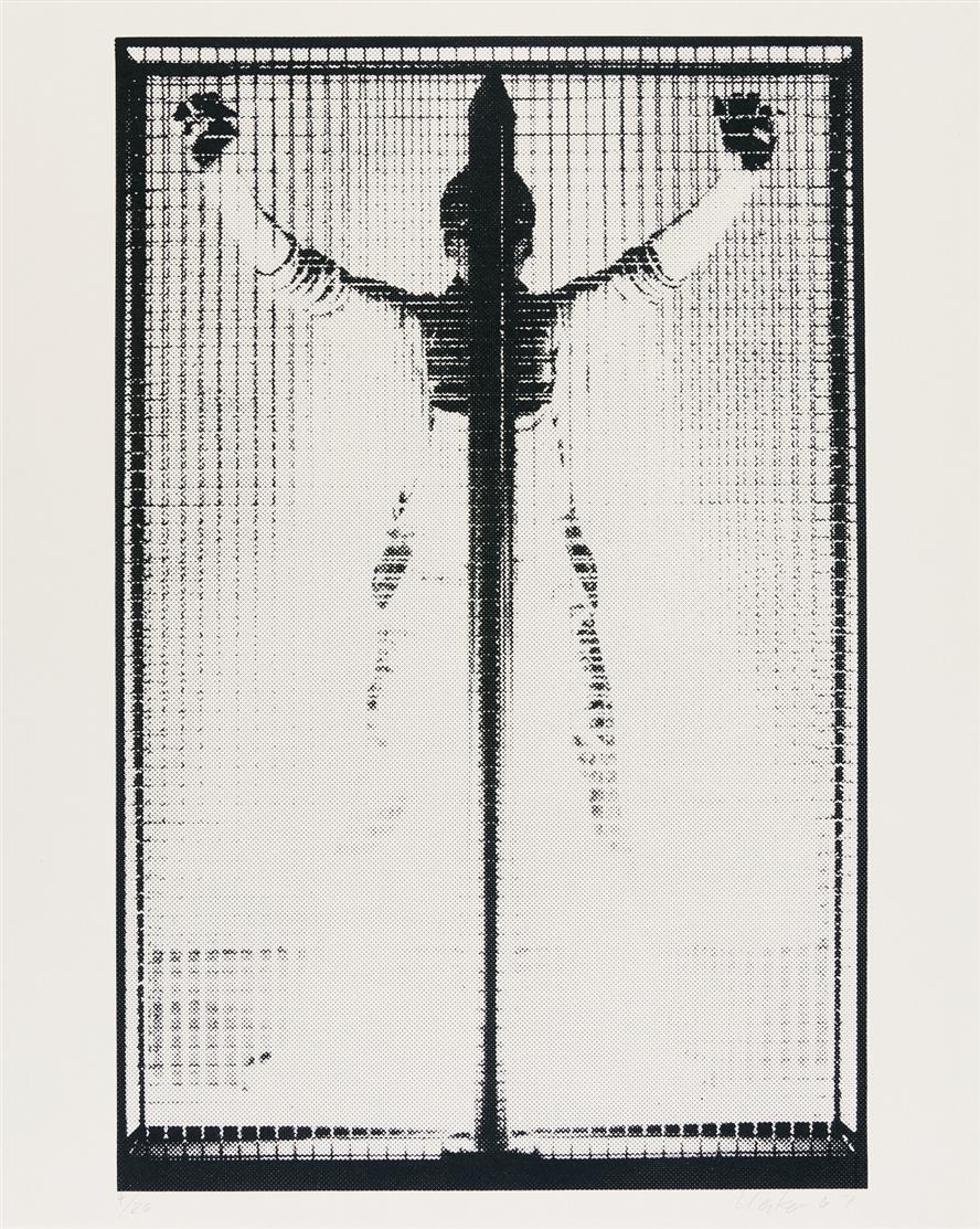 Günther Uecker. Ohne Titel. 1967. Serigraphie. Signiert. Ex. 4/26.
