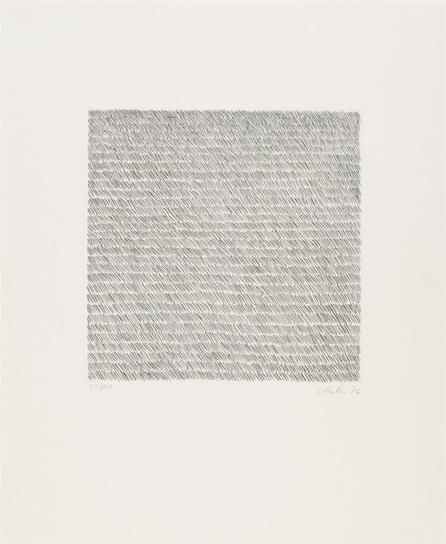 Günther Uecker. Ohne Titel. 1976. Radierung. Signiert. Ex. 25/140.