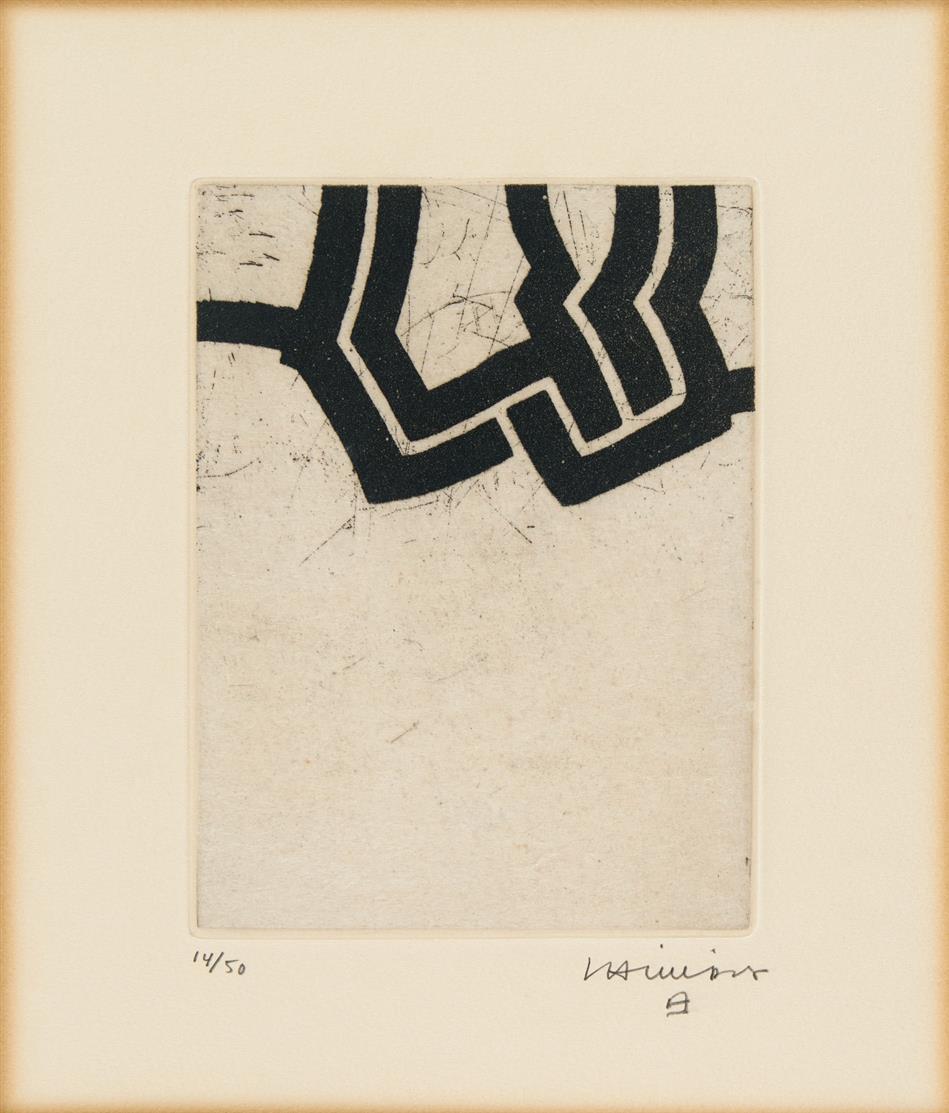 Eduardo Chillida. Luze. 1972. Radierung. Signiert. Ex. 14/50. v. d. K. 72022.