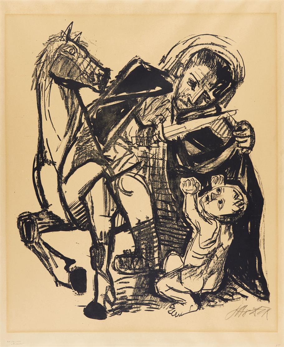 Otto Dix. St. Martin. 1954. Lithographie. Signiert. Karsch 210.