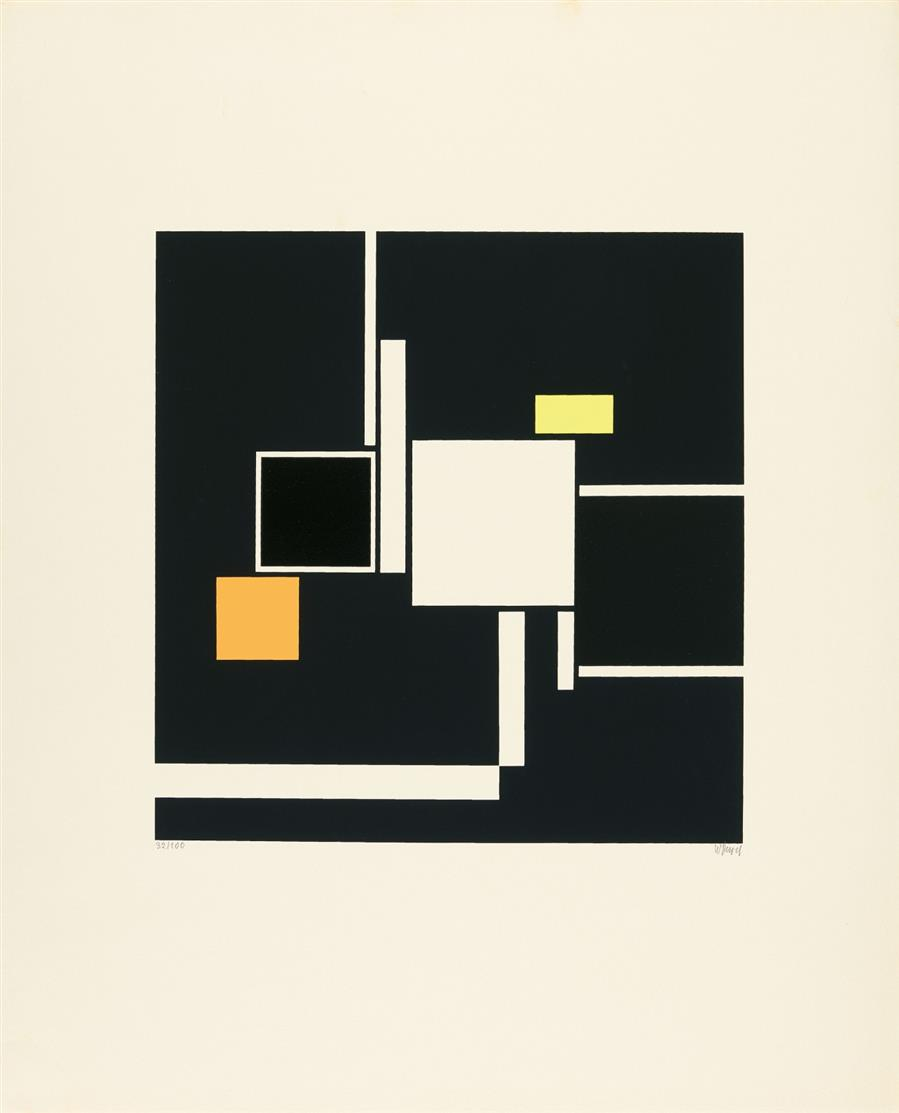 Walter Dexel. Quadrate 1925 (1969). Siebdruck. Signiert. Ex. 32/100. Vitt 35.