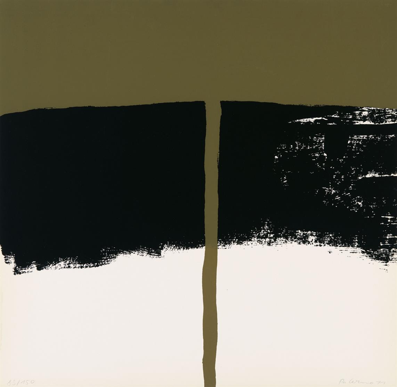 Blinky Palermo. T (1970). Farbserigraphie. Signiert. Ex. 83/150. Jahn 16.