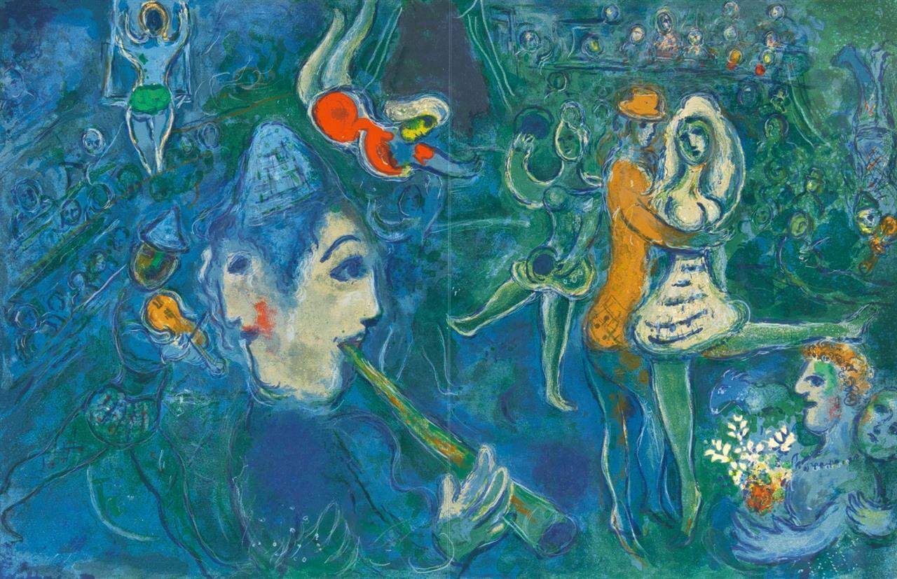Marc Chagall. Aus: Cirque. 1967. Farblithographie. Eines von 270 Ex. Mourlot 517; Cramer aus 68.