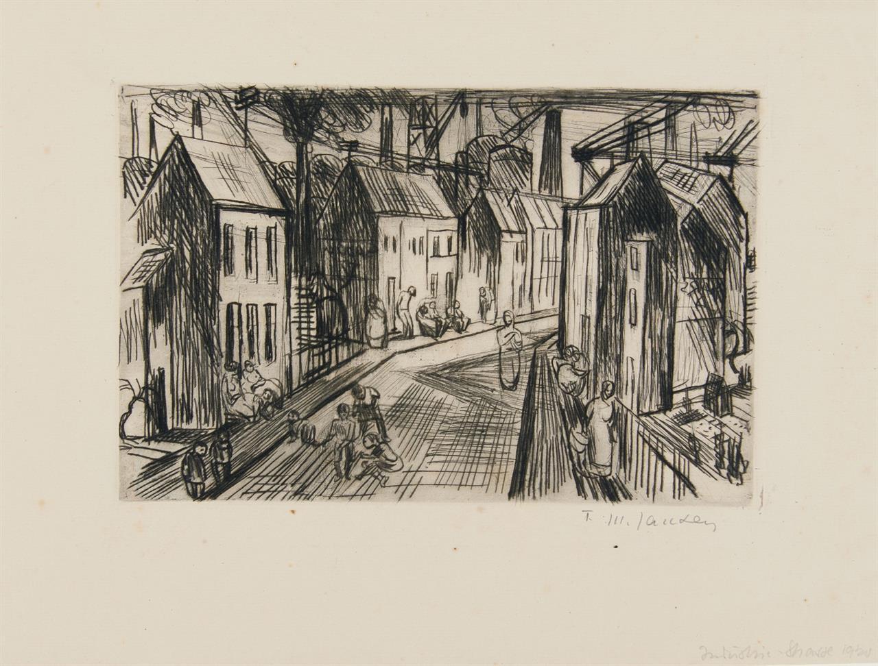 Franz Maria Jansen. Daheim. 1920. Radierung. Signiert. Merholz 196.