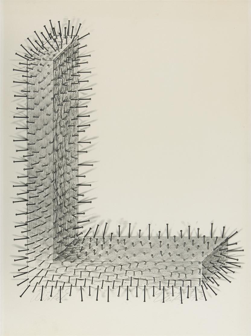 Günther Uecker. Winkel. 1972. Offsetlithographie. Signiert.