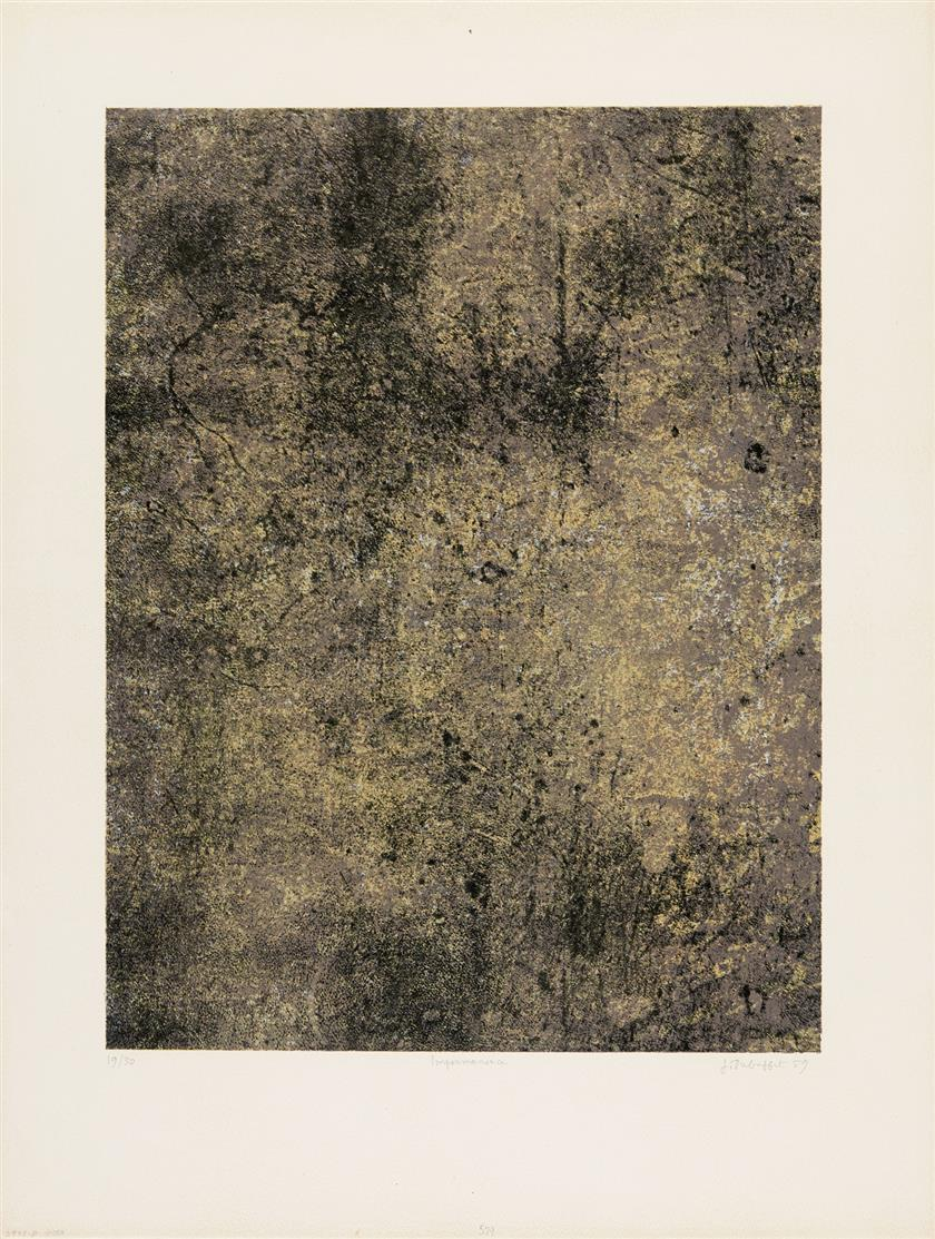 Jean Dubuffet. Impermanence (aus: Spectacles). 1959. Farblithographie. Signiert. Ex. 19/30.