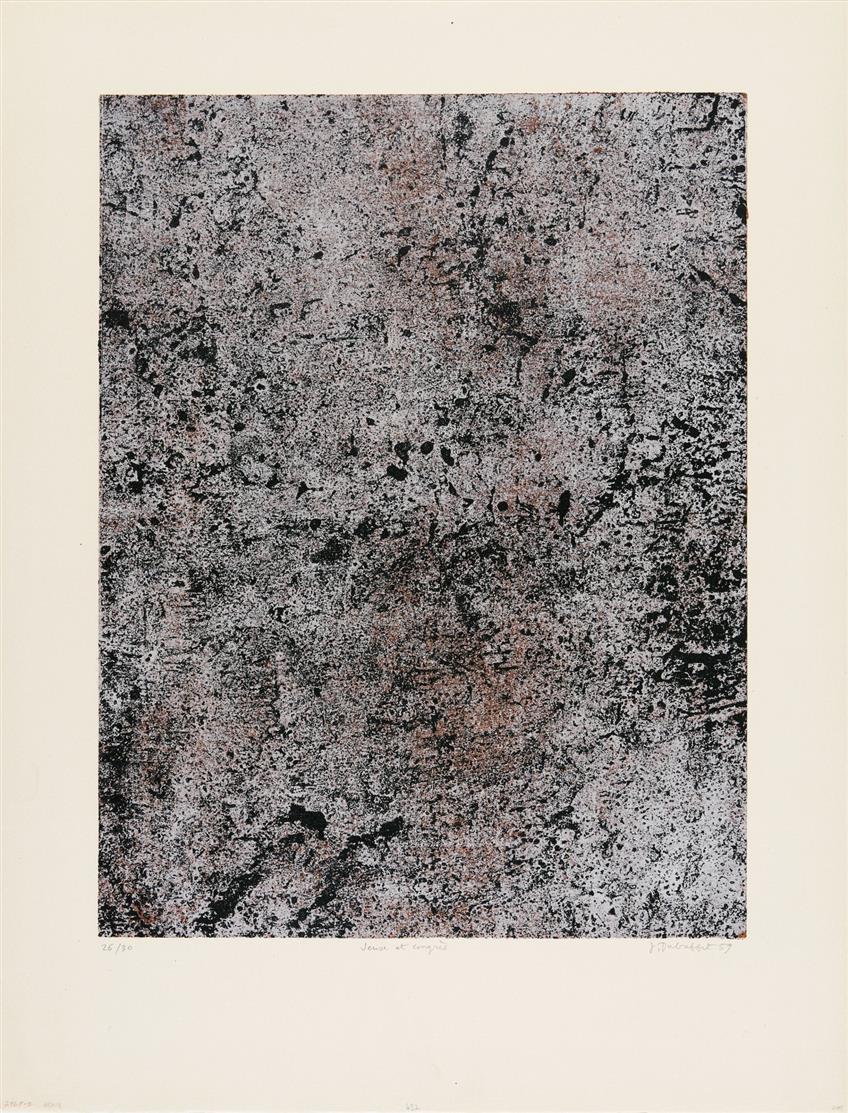 Jean Dubuffet. Jeux et congrès (aus: Cadastre). 1959. Farblithographie. Signiert. Ex. 26/30.