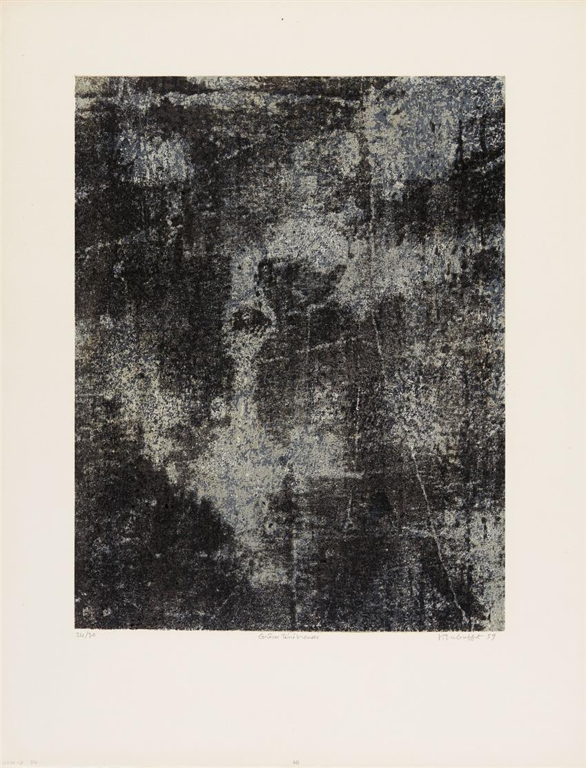 Jean Dubuffet. Grâces ténébreuses (aus: L'Anarchitecte). 1959. Farblithographie. Signiert. Ex. 24/30.