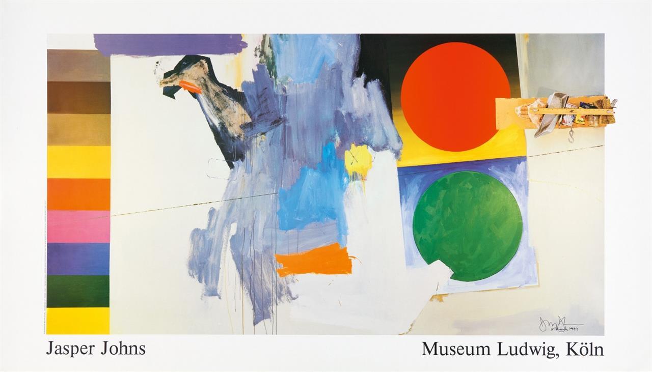 Jasper Johns. Edingsville Museum Ludwig. 1987. Plakat. Signiert.