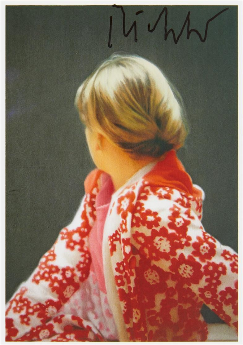Gerhard. Richter. Betty. 1988 (2012). Postkarte. Signiert.