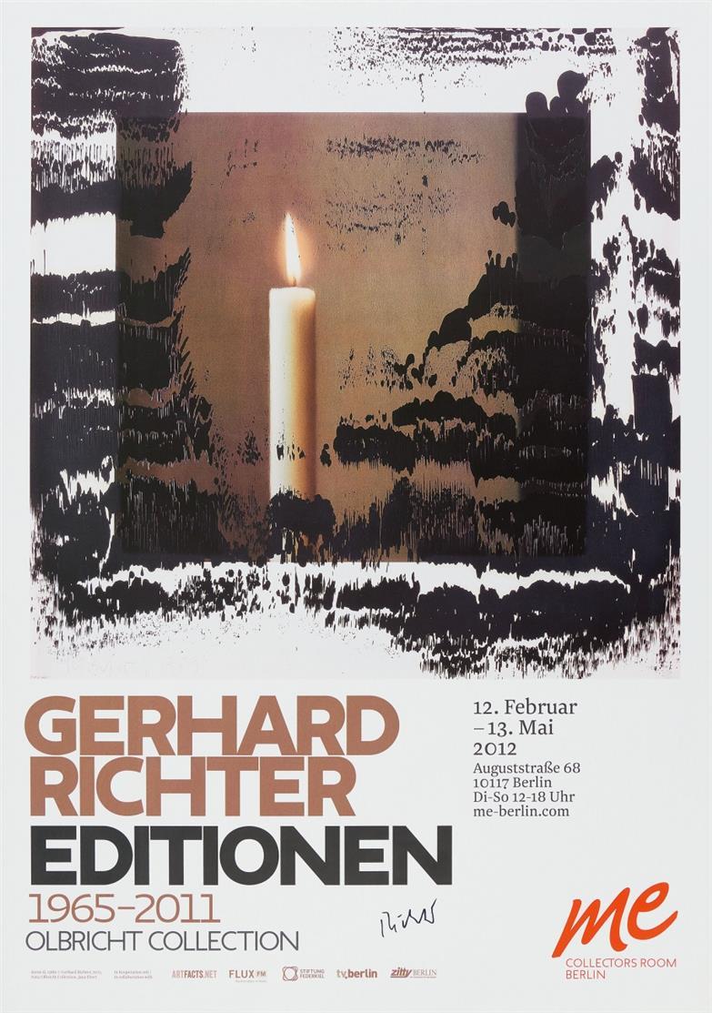 Gerhard Richter. Editionen (Kerze II). 2012. Plakat. Signiert.