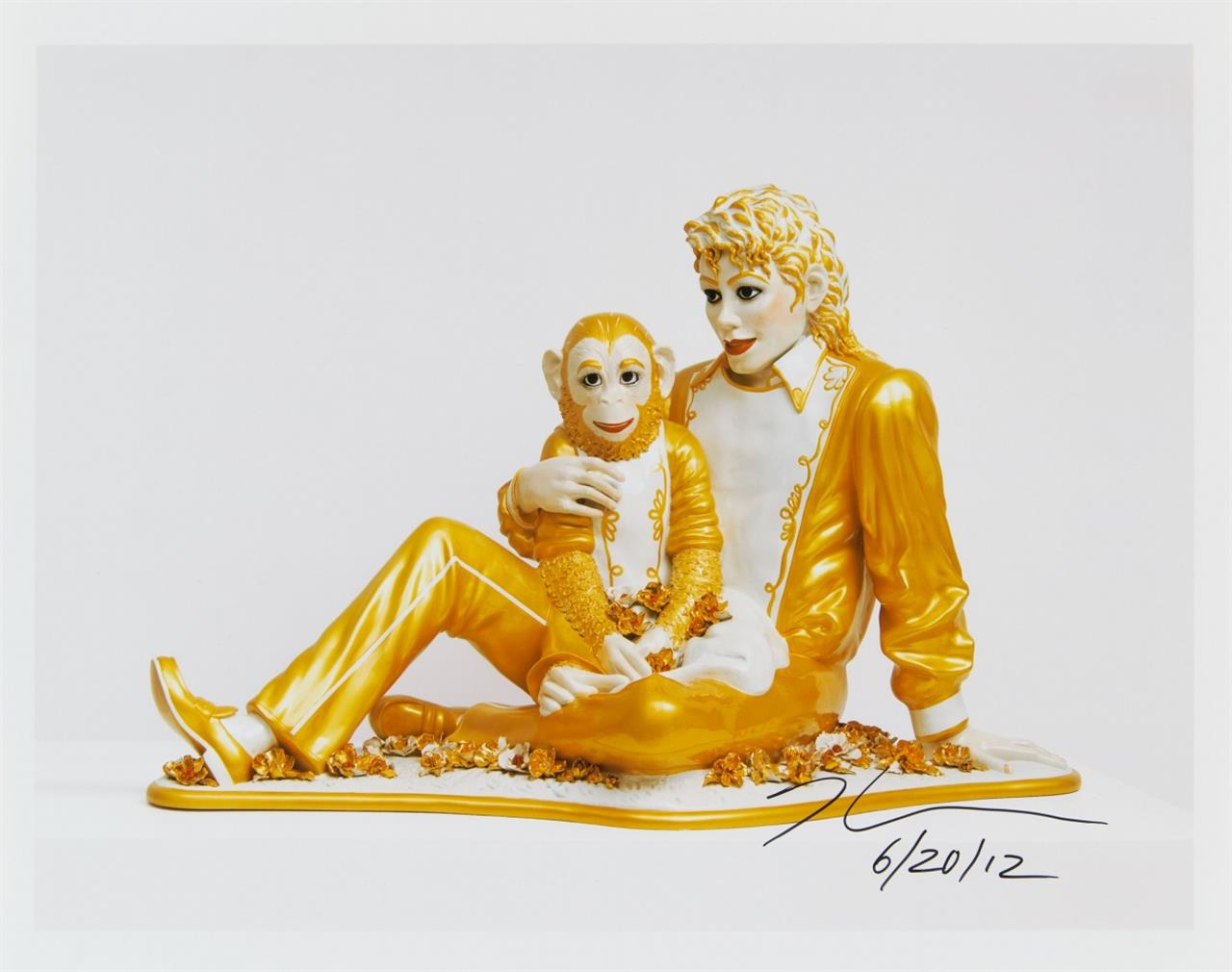 Jeff Koons. Michael Jackson und Bubbles. 2012. C-Print. Signiert.