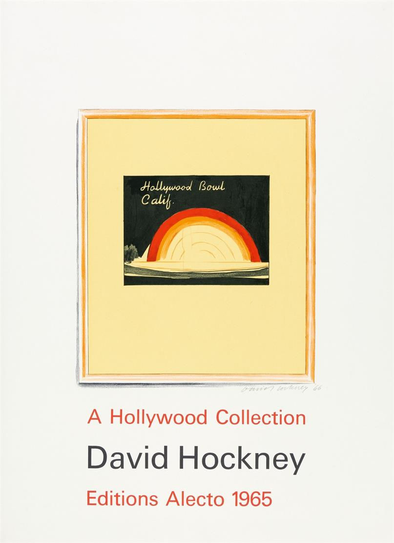 David Hockney. Hollywood collection. 1965. Plakat. Signiert.