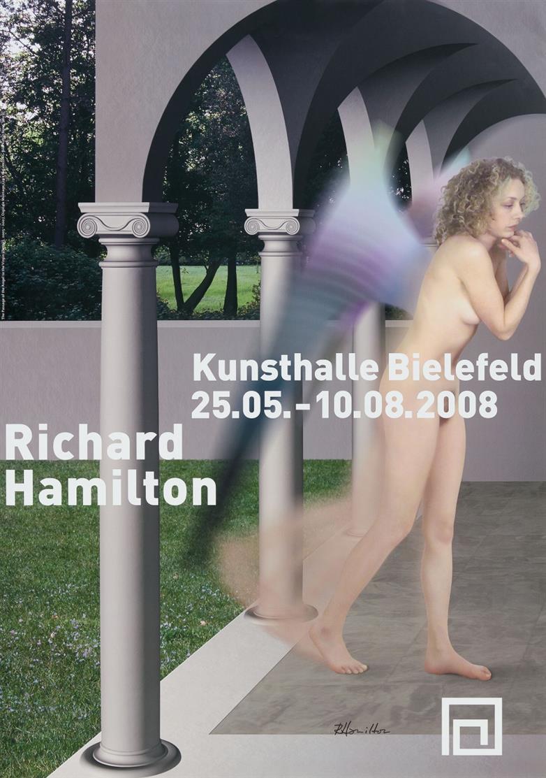 Richard Hamilton. Kunsthalle Bielefeld. 2008. Plakat. Signiert.