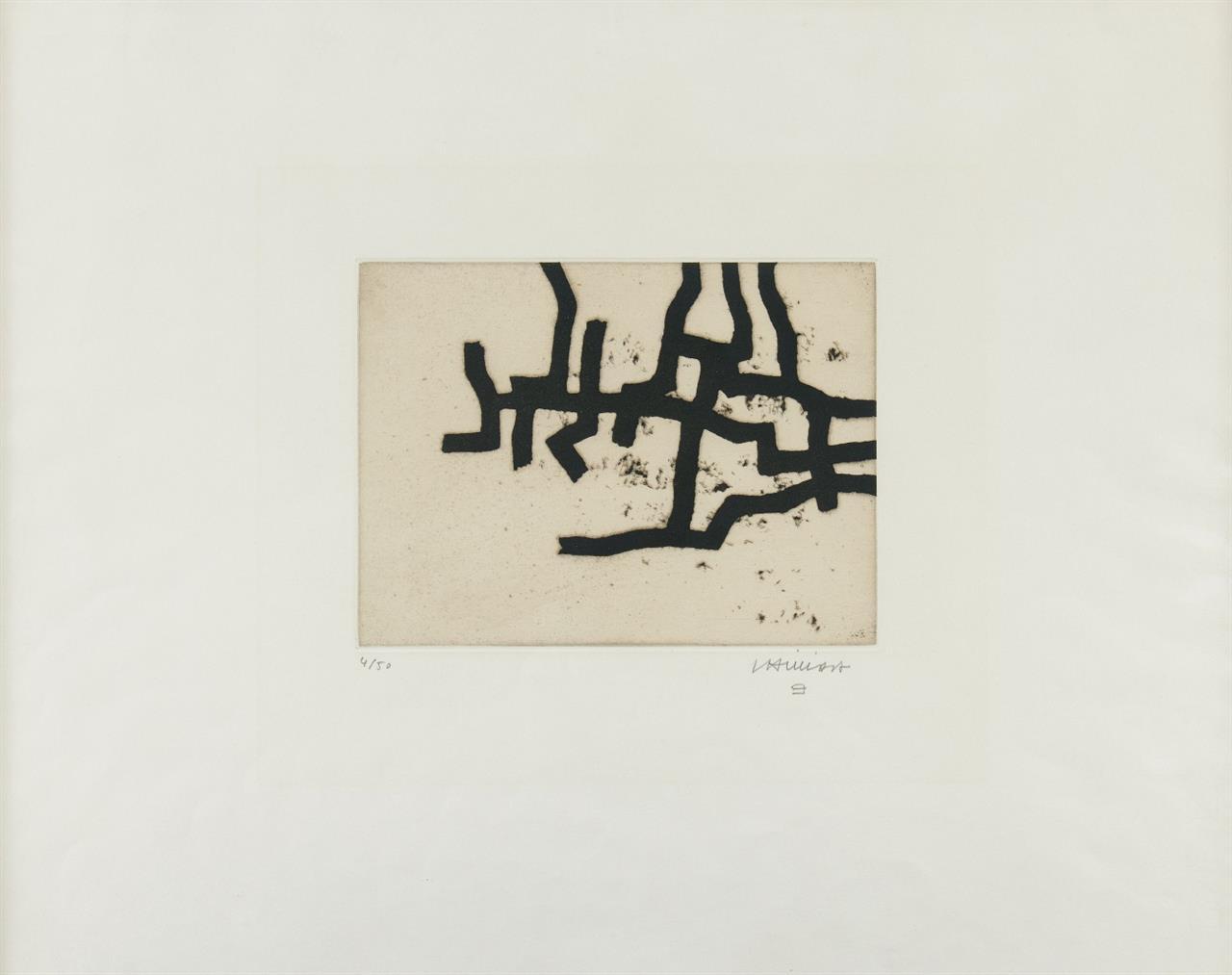 Eduardo Chillida. Continuation III. 1966. Radierung. Signiert. Ex. 4/50. v. d. K. 66005.