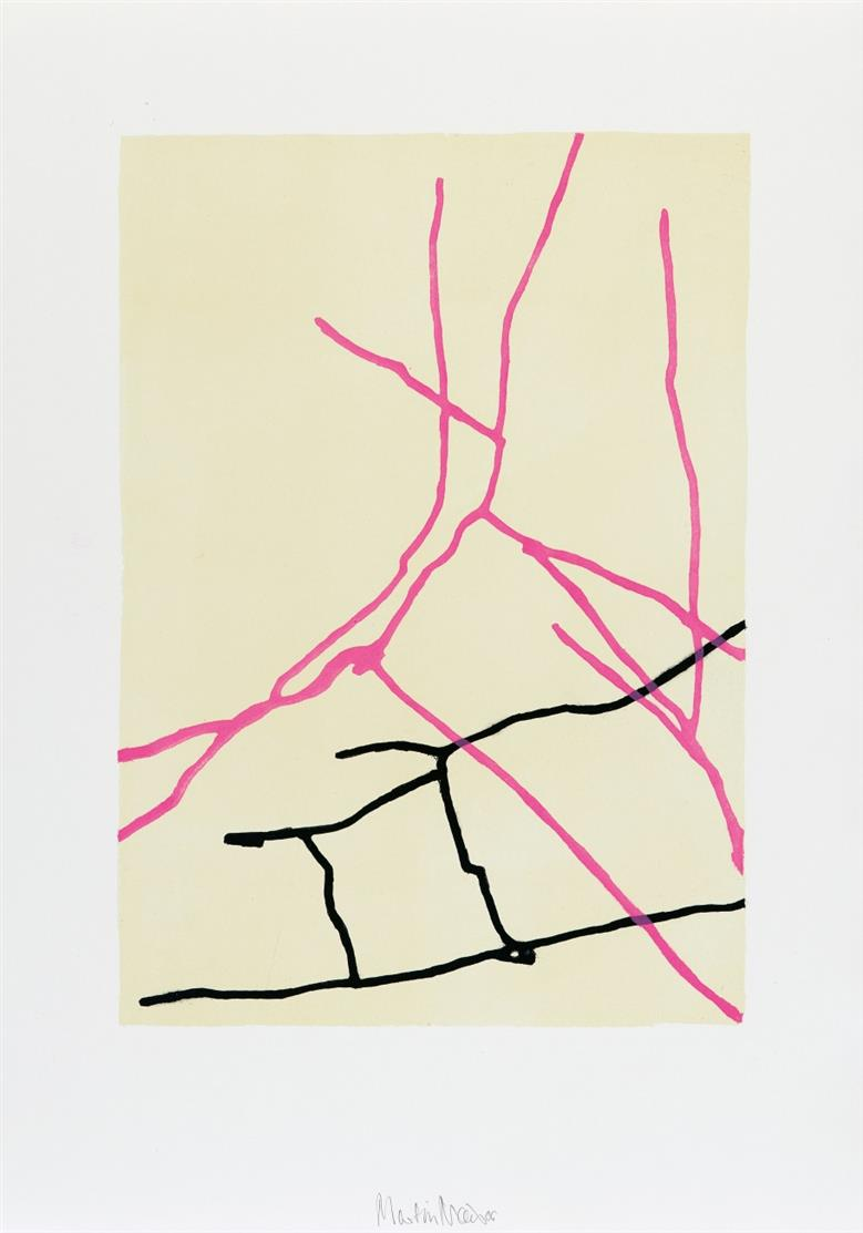 Martin Noel. Lankwitz (pink) / Pankow (hellblau). 2006. 2 Blatt Farblithographien. Signiert.