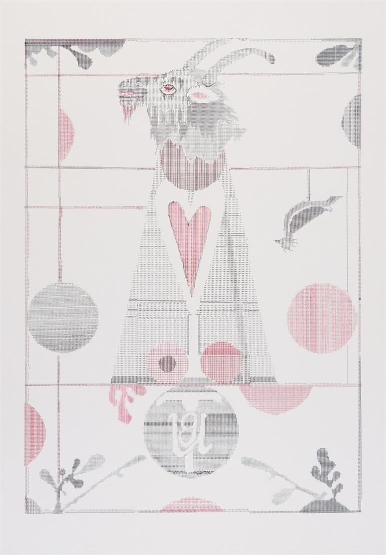 Gert & Uwe Tobias. Ohne Titel. 2007. Farbserigraphie. Verso signiert. Ex. 15/100.
