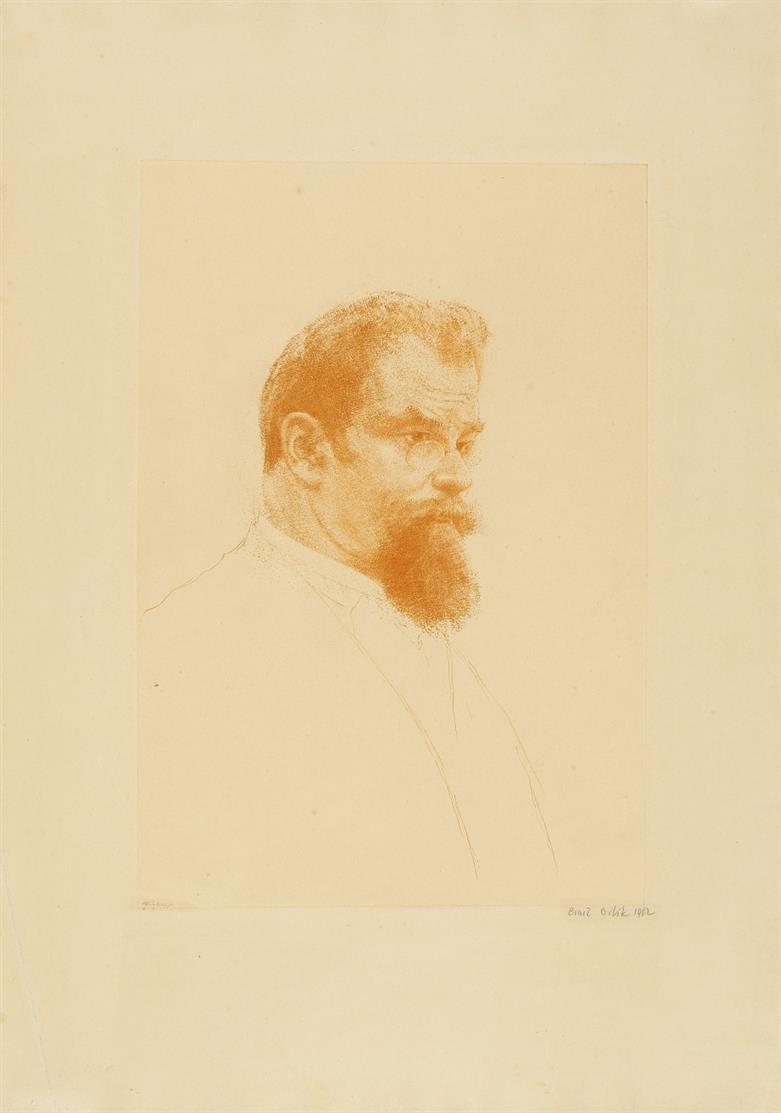 Emil Orlik. Porträt Max Klinger. 1902. Radierung. Signiert.