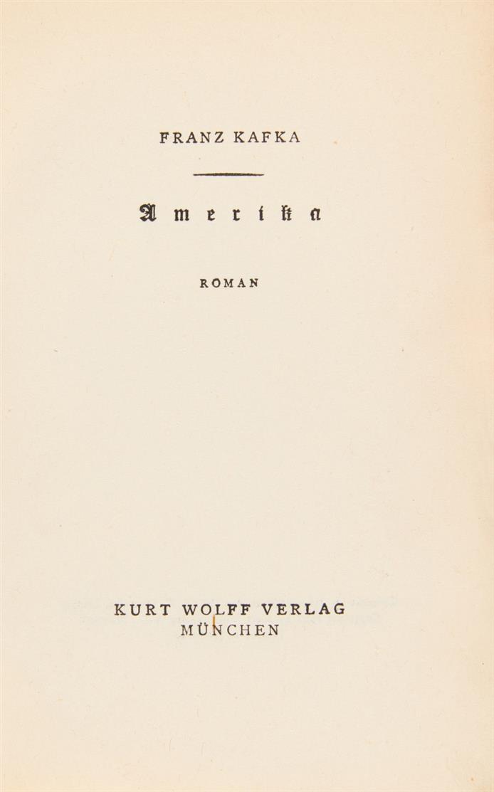 F. Kafka, Amerika. München 1927.