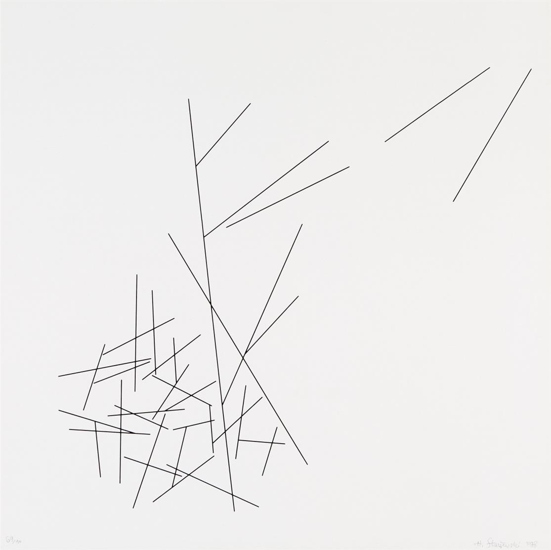 Henryk Stazewski. Ohne Titel. 1978. Serigraphie. Signiert. Ex. 69/90.
