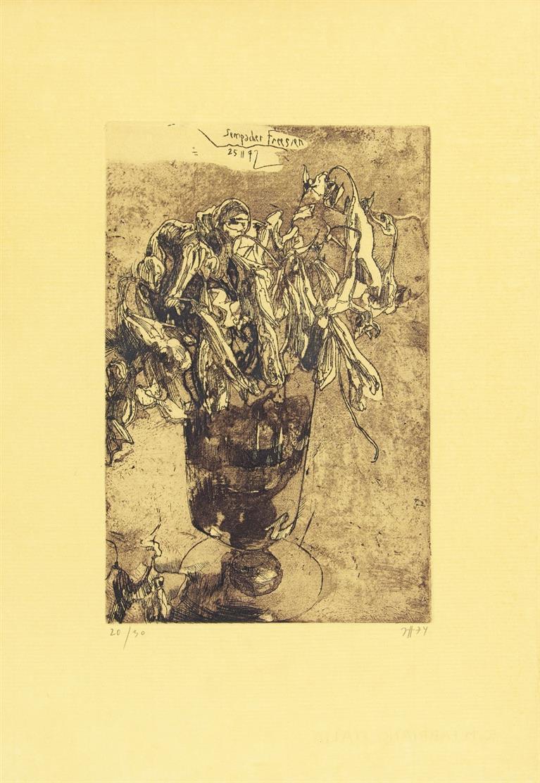 Horst Janssen. Sempacher Freesien. 1972 (1974). Radierung. Signiert. Ex. 20/30. Frielinghaus 1972, 117.