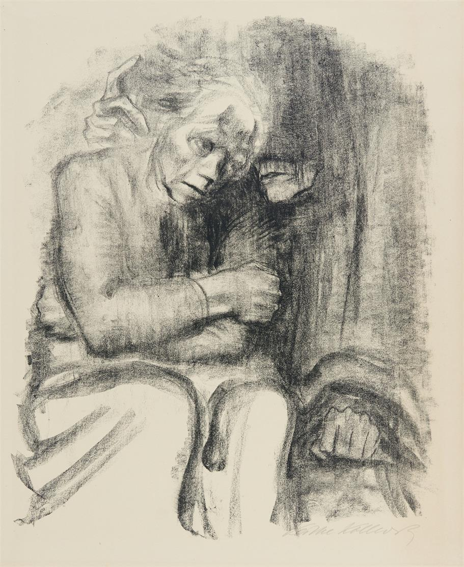 Käthe Kollwitz. Abschied und Tod. 1923. Lithographie. Signiert.  v.d.K. 200 II b.