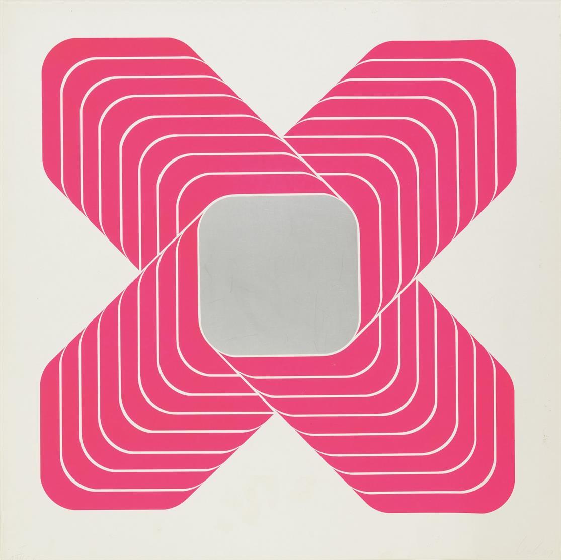 Thomas Lenk. Ohne Titel. 1969. 6 Blatt Farbserigraphien. Signiert. Edition Griffelkunst.