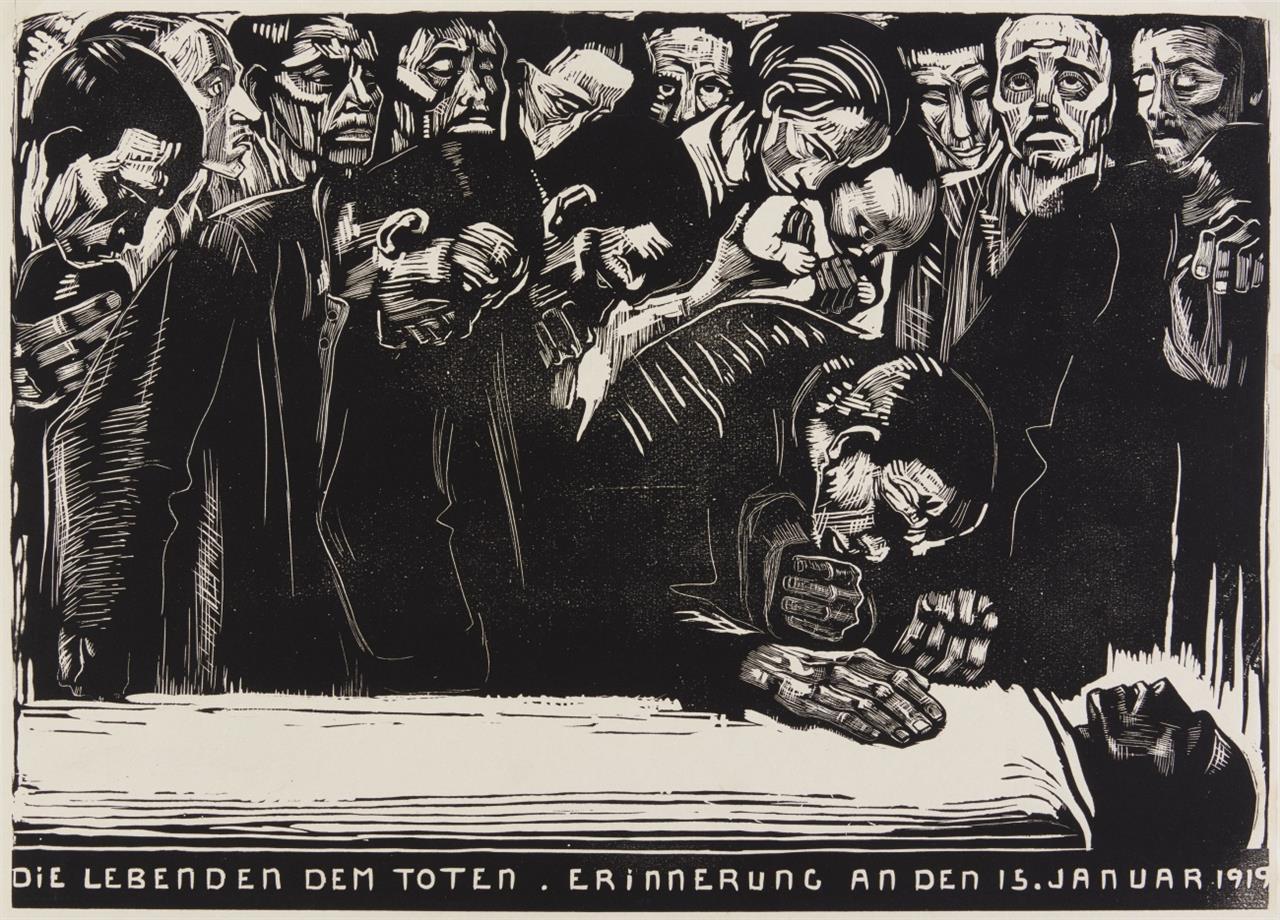 Käthe Kollwitz. Gedenkblatt für Karl Liebknecht. 1920. Holzschnitt. v.d.K. 159 VI c.
