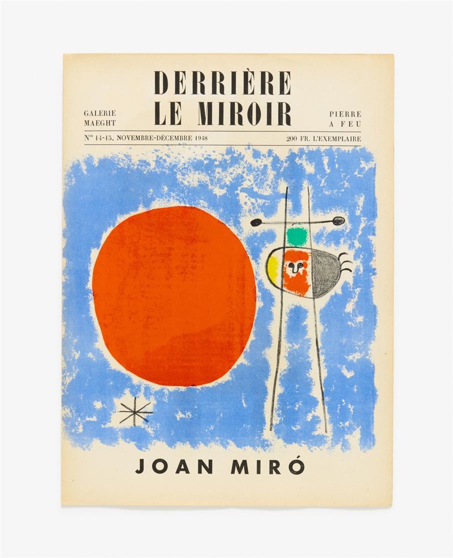 Miró / Kandinsky. - Derrière le Miroir. N° 14-15, 29-30 und 42. 3 Bde, mit Mappe. Paris 1948-1951.