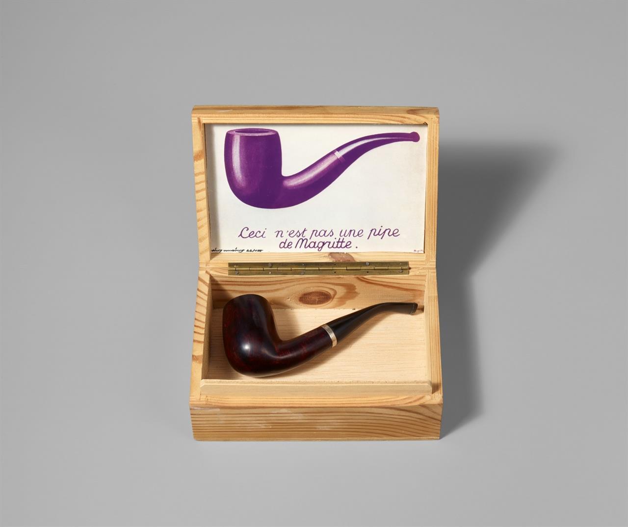 Timm Ulrichs. Ceci n'est pas une pipe de Magritte.1968. Multiple. Signiert. Ex. 22/100.
