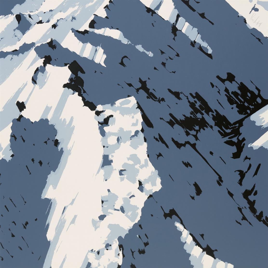 Gerhard Richter. Schweizer Alpen A2. 1969. Farbserigraphie. Signiert. Griffelkunst. Butin, aus 20.