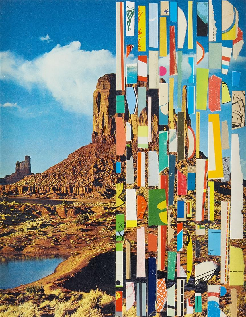 Matthew Northridge. The World We Live In, No. 172. 2012. Papiercollage. Verso signiert.