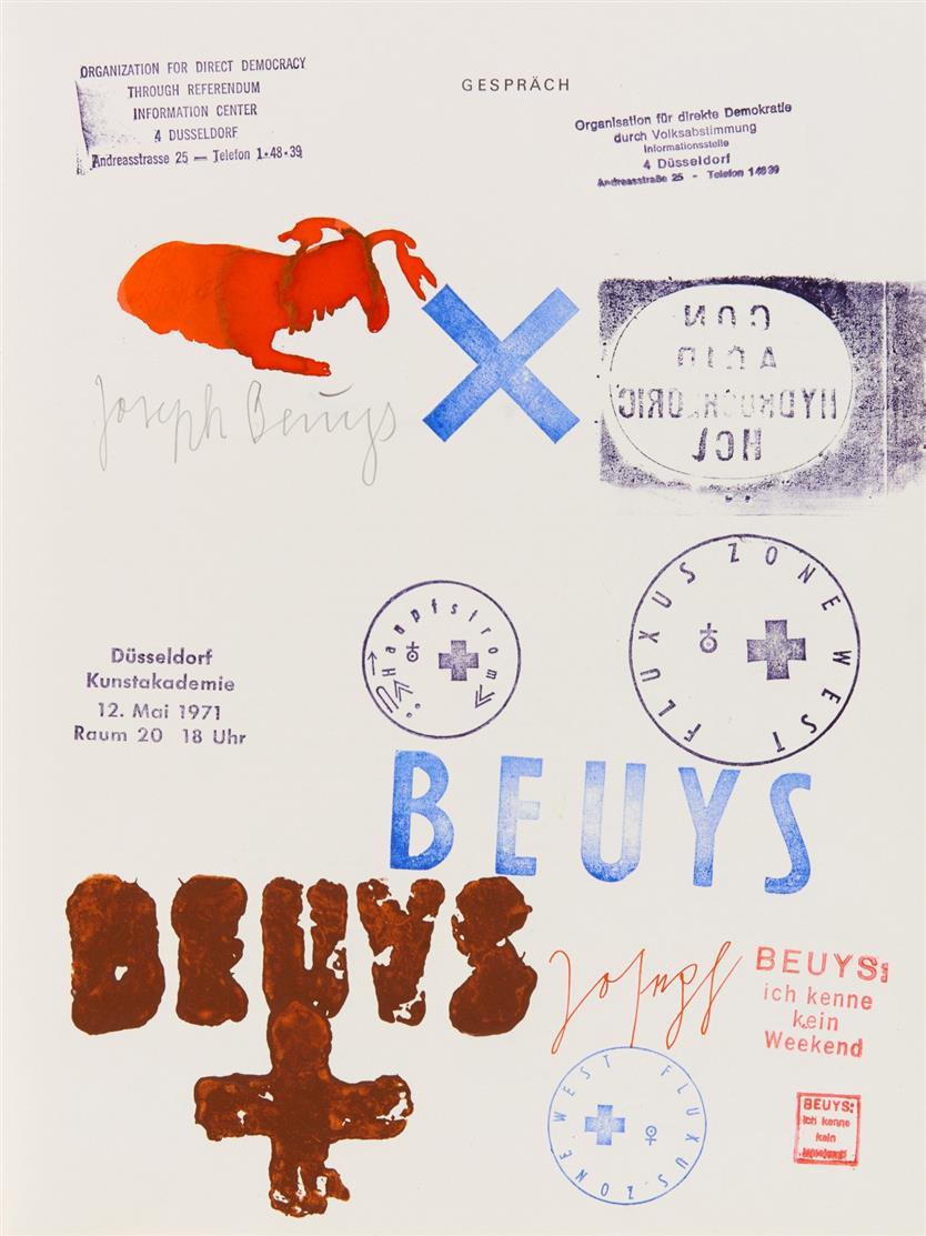 J. Beuys, Zeichnungen I. 1947-59. Köln 1972. - Ex. 45/80 der VA mit sign. Stempelzeichnung.