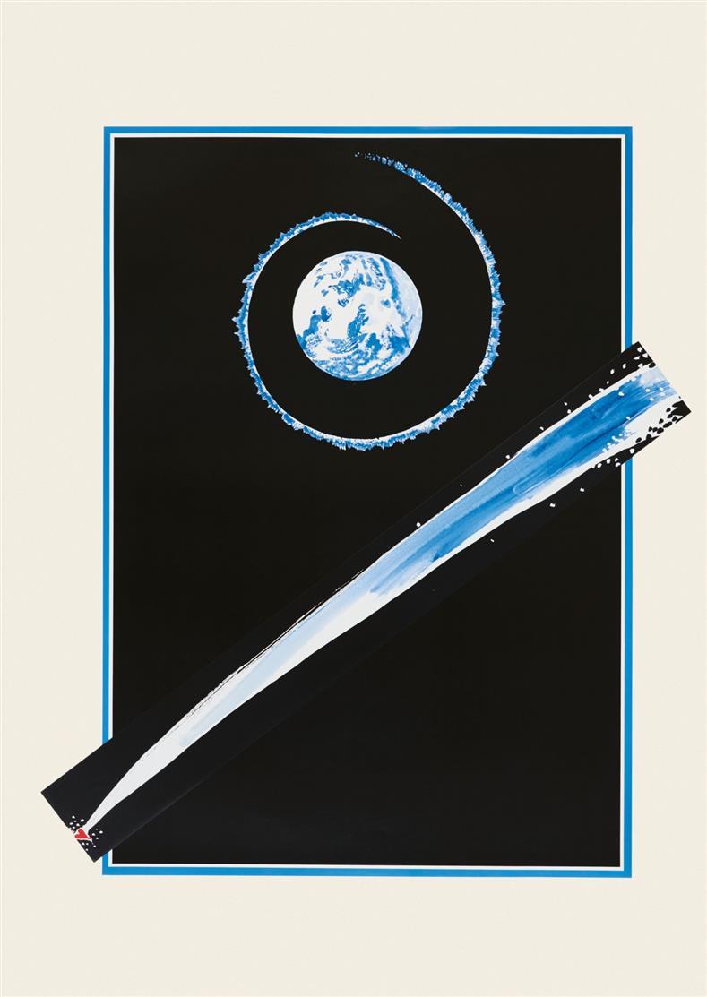 Paul Thek. Ohne Titel. Zweiteilige Farboffsetlithographie. Signiert. Ex. 89/100.