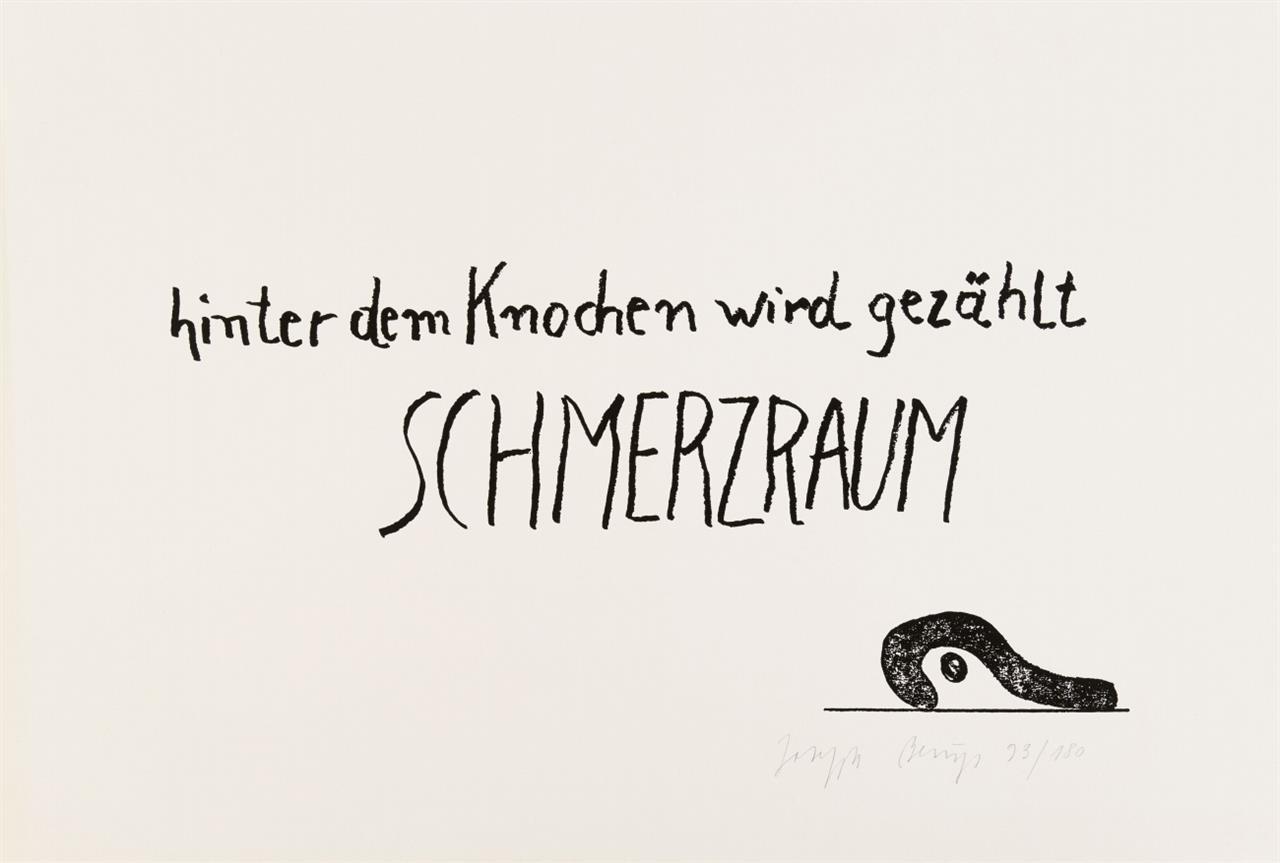 Joseph Beuys. Schmerzraum. 1984. Siebdruck. Signiert. Ex. 93/180. Sch. 509.