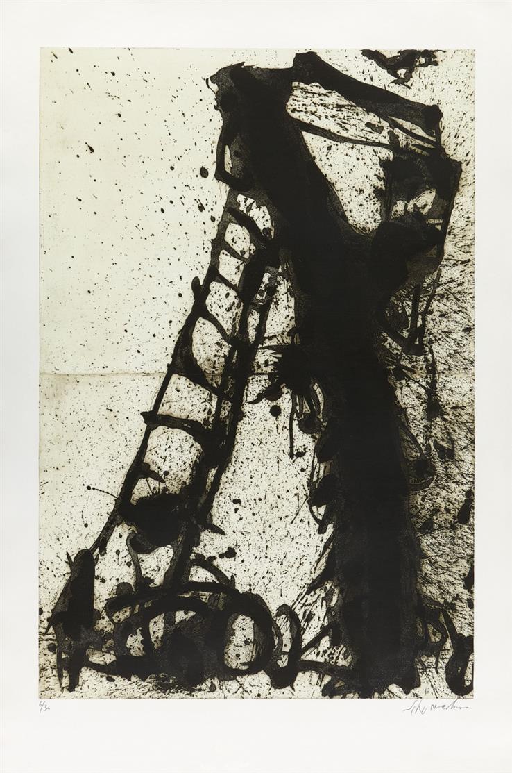 Emil Schumacher. 3/1990. Aquatintaradierung. Signiert. Ex. 6/30.