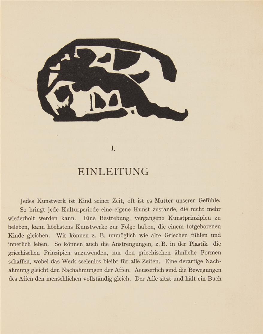 W. Kandinsky, Über das Geistige in der Kunst. München 1912. - EA.