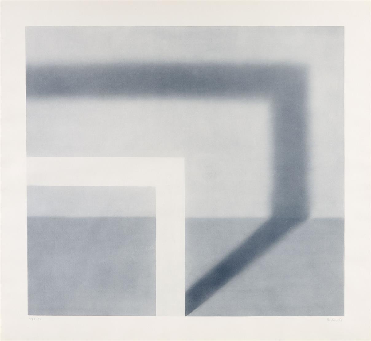 Gerhard Richter. Schattenbild II. 1968. Lichtdruck. Signiert. Ex. 49/150. Butin 18.